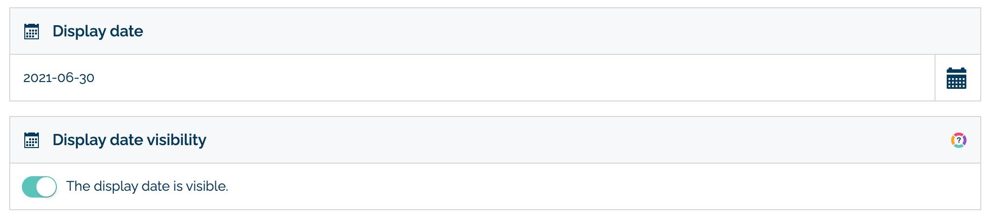 Display date in FAQ configure tab