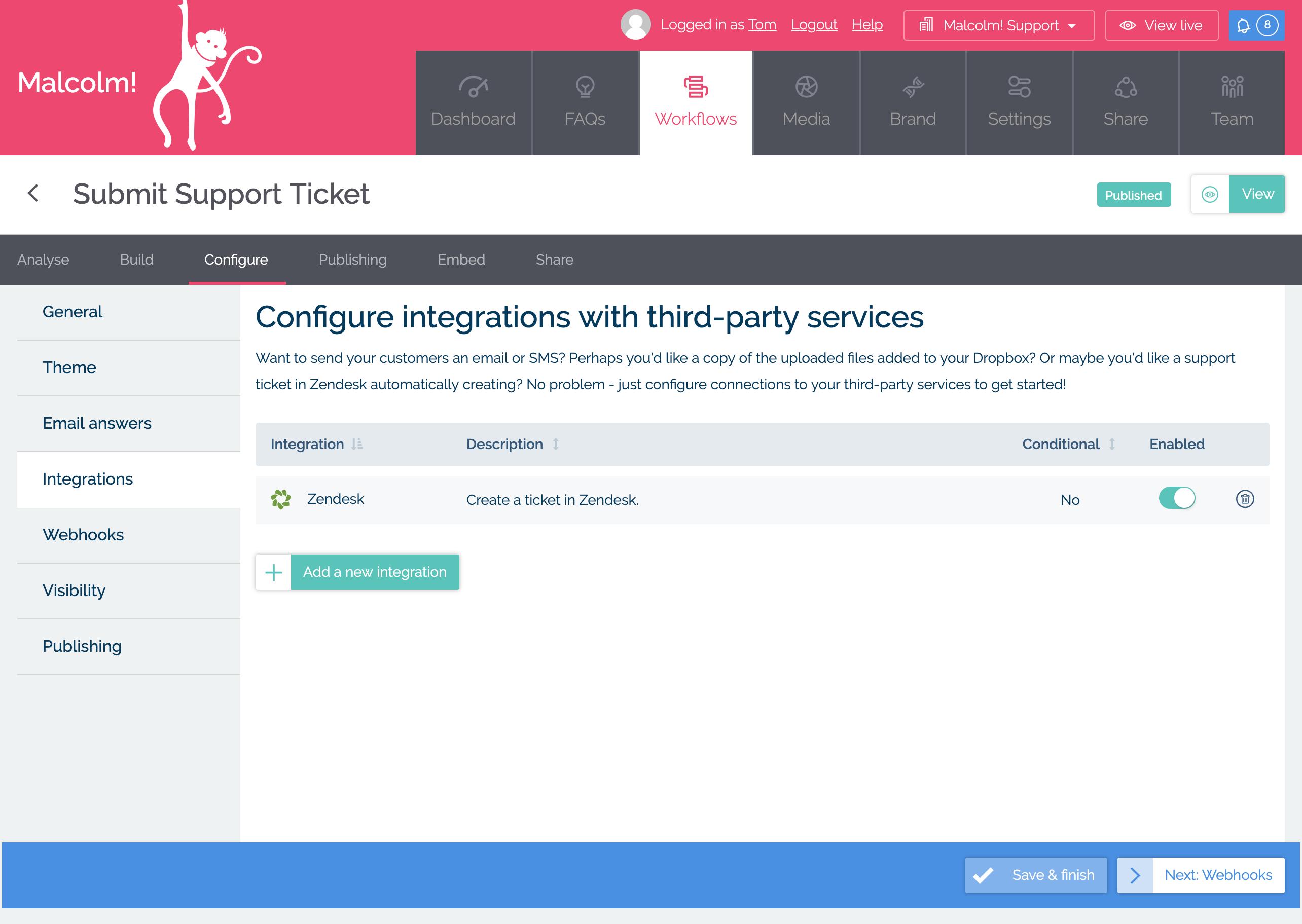 Configure your Workflow