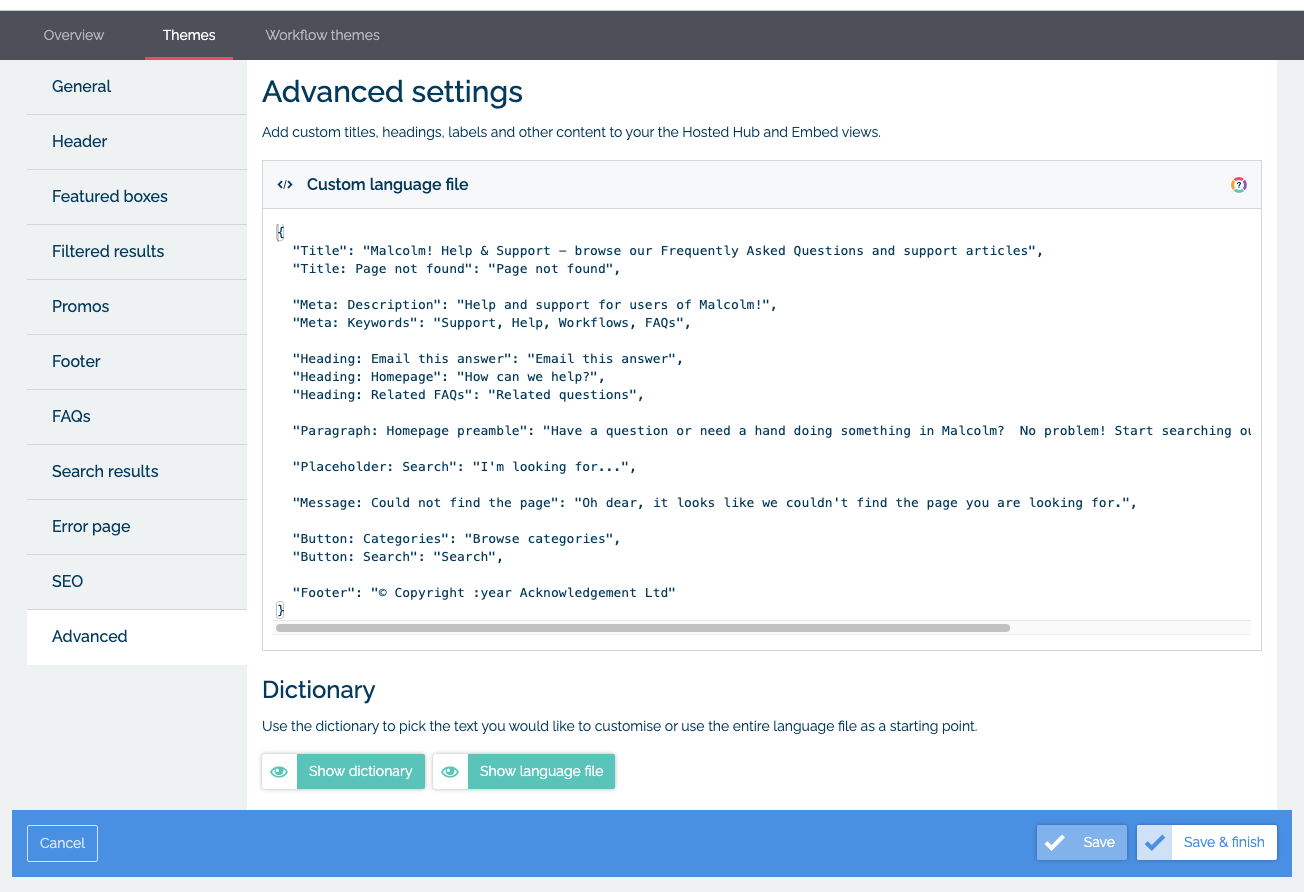 Edit your language file in MyMalcolm