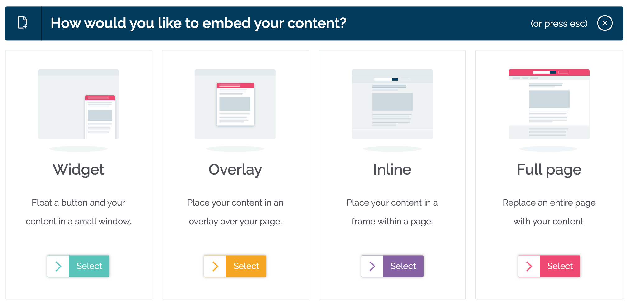 Choose your embed type in MyMalcolm