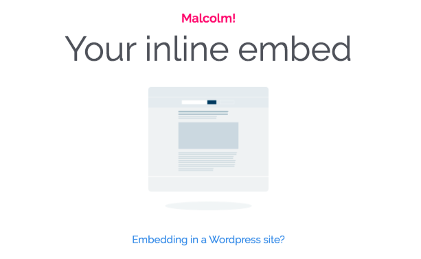 Embedding in a Wordpress site?