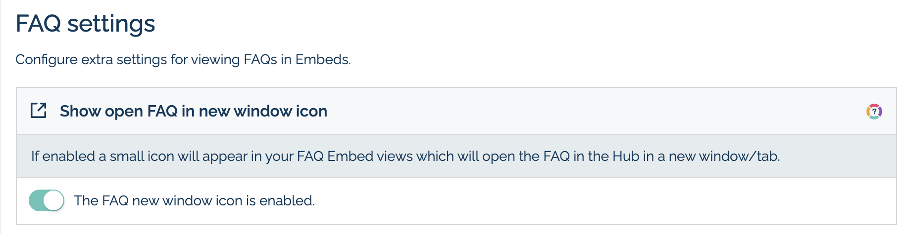 How to turn on the link to web based FAQ feature in MyMalcolm