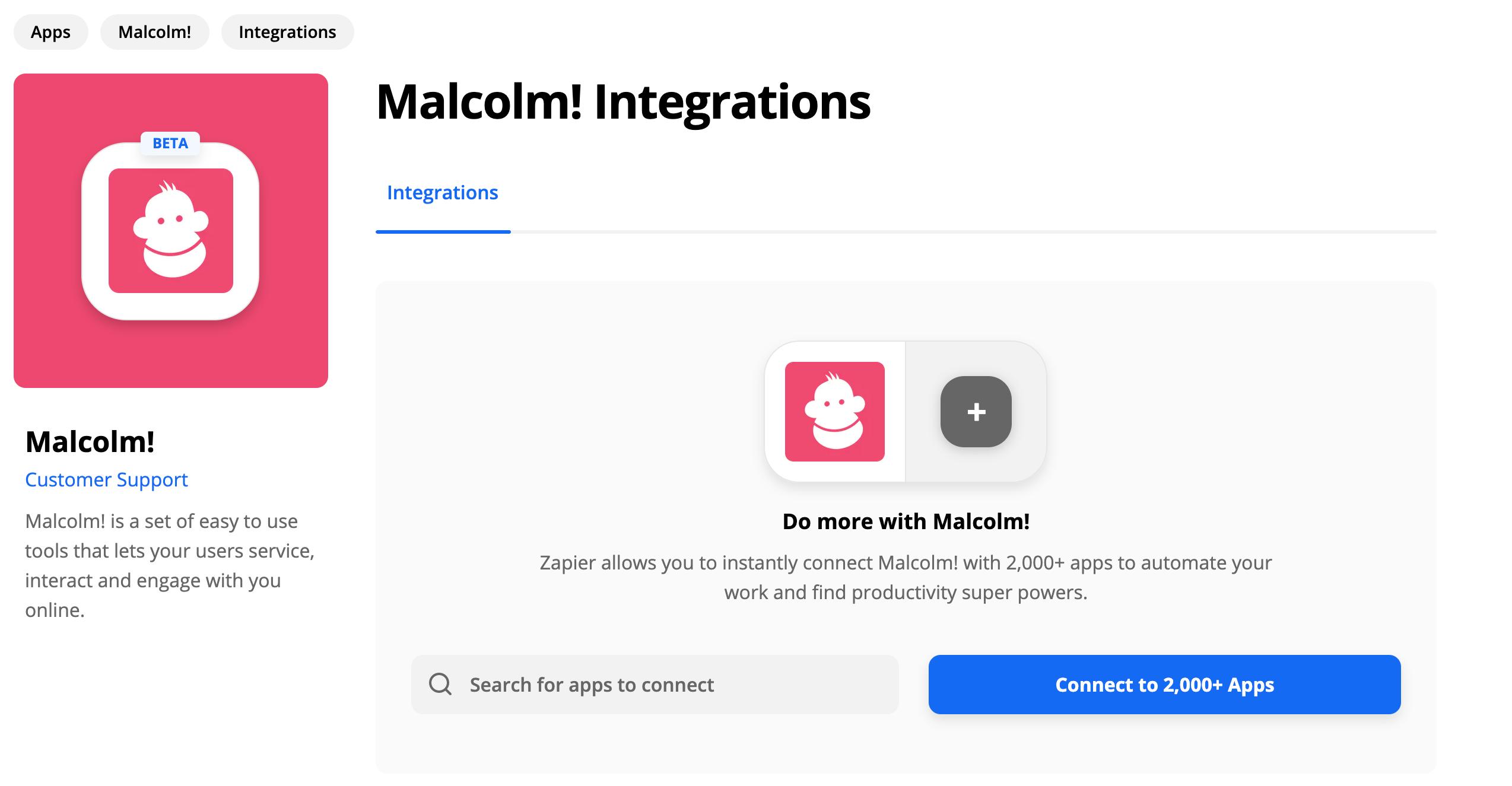 Malcolm! on Zapier