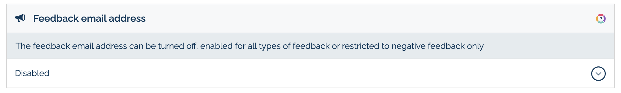 Leave Feedback email address option in MyMalcolm