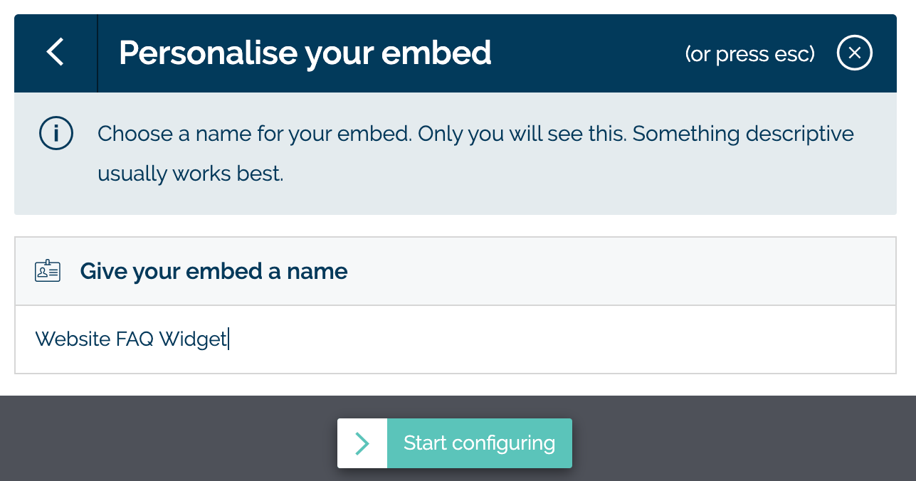 Names your embed in MyMalcolm