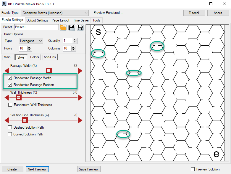 23 Mazes 2D - Randomize Passage Width and Position.png